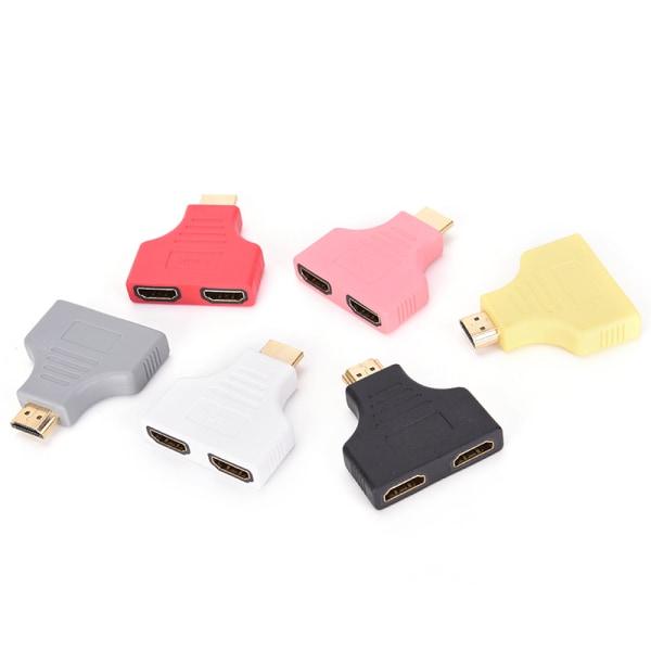 1PC HDMI Male To HDMI Female Y Switch Splitter Dual Converter Ad black