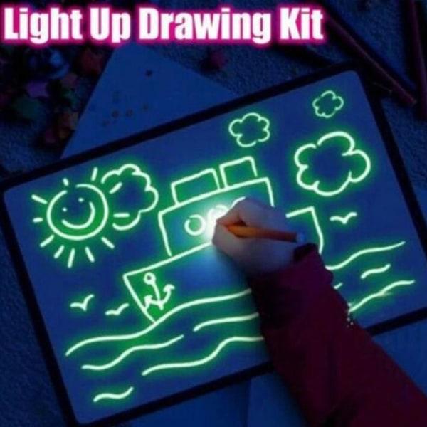 1PC LED lysande ritbord graffiti doodle tablett engelska m