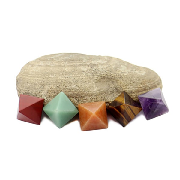 1PC Natural Fluorite Crystal Pyramid Quartz Home Decor Crafts O