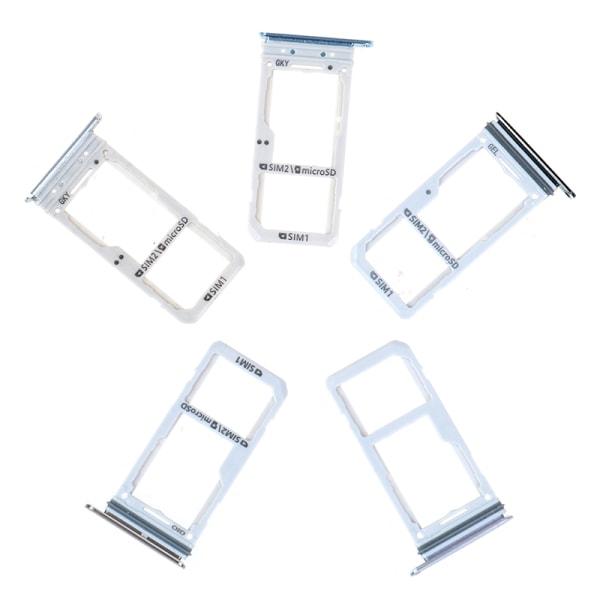 1pcs Dual sim card holder slot tray for samsung galaxy s8 s8+ Silver
