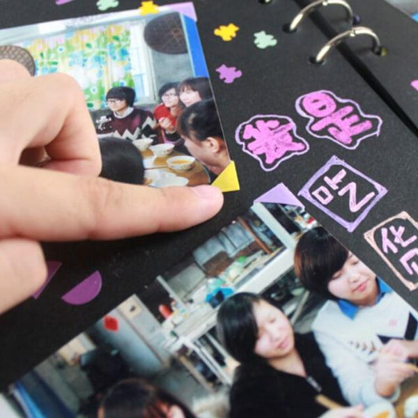 1ark / 102st Självhäftande Photo Corner Stickers klippbok al