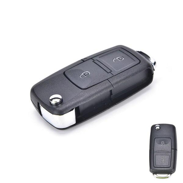 2-knapps vikbar fjärrnyckel Shell Fob för VW VOLKSWAGEN MK4 GOL