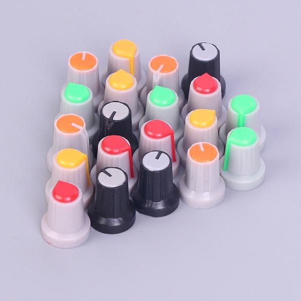 20 Pcs 6mm Shaft Hole Dia Knurled Grip Potentiometer Pot Knobs C One size