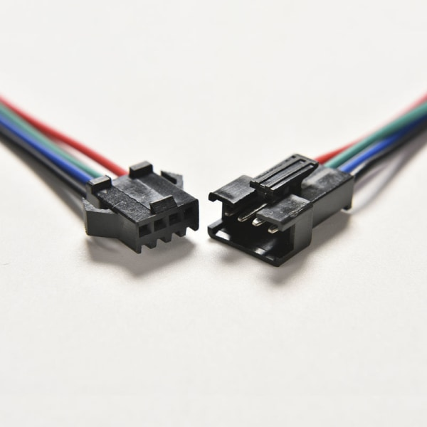 20pcs Male&Female 4 Pin Connector with wire for 5050/3528 RGB Le