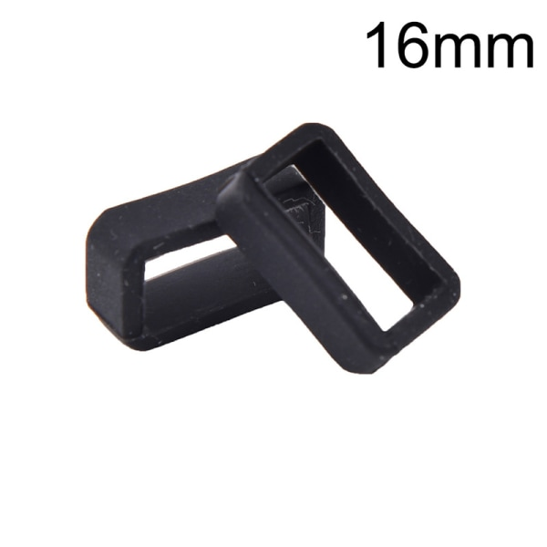 2st 14mm-26mm Gummi Silikon Klockband Loop Rem Small Hold