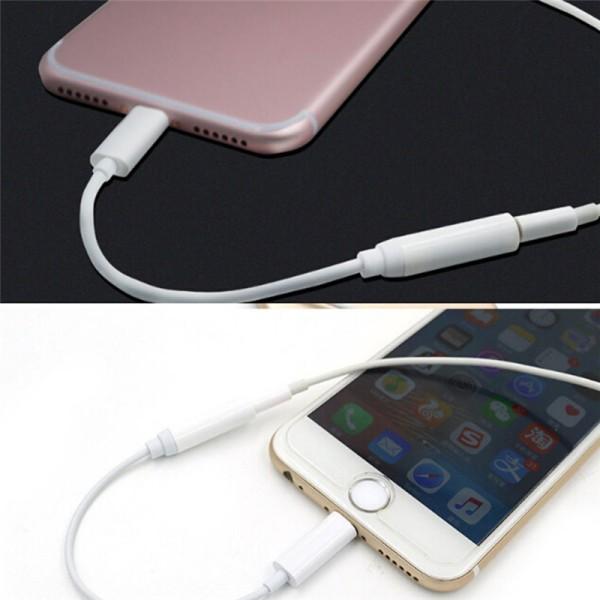 3,5 mm hörlurs hörlurar Audio Adapter kabelomvandlare för iPho