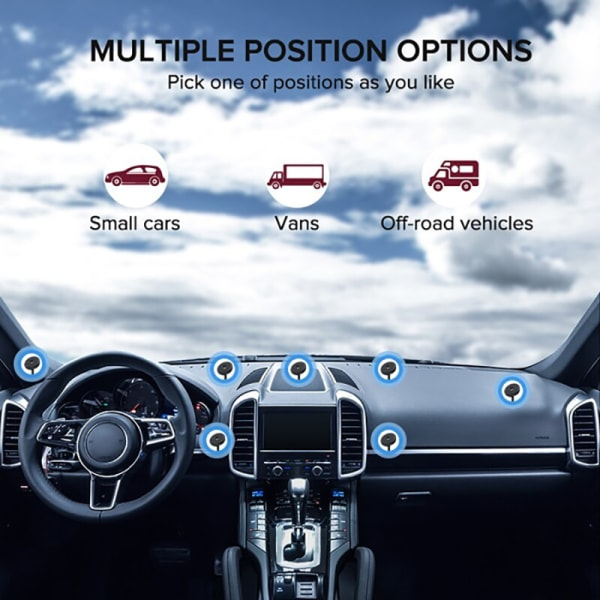360 graders uppdaterad magnetiskt metallhållare för bil Mo