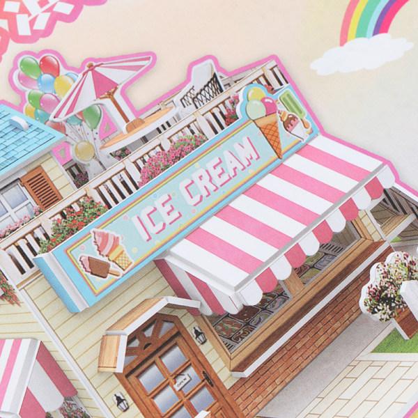 3D DIY Puzzle Citadel Model Cartoon House Assembling Toy Kid Ea
