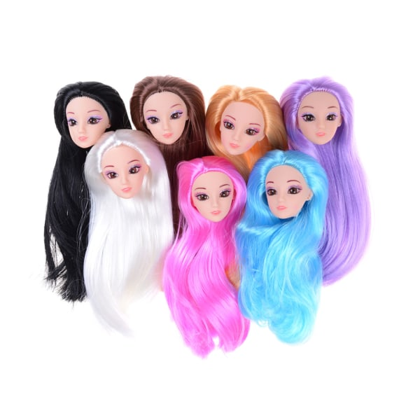 3D ögon huvud nake leder kropp docka huvud leksaker för dockor flickor gi