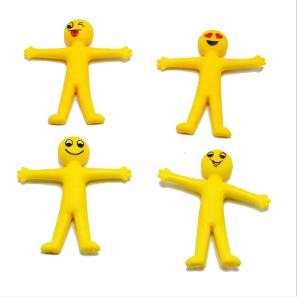 5Pcs anti stress squeeze yellow guy novelty & gag toys decompre one size
