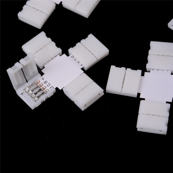 5pcs L T X Shape 8mm 10mm 2pin 4pin Single Color RGB LED Strip C 0 4pin-10mm-L