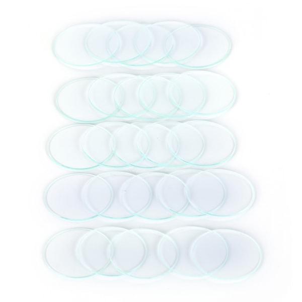 5st / parti 36mm-40mm platt vanligt glas klocka kristallklocka delar F