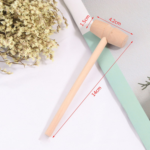 5Pcs Wooden Hammer Mallet Carving Tool Leather Craft Jewelry Mak one size