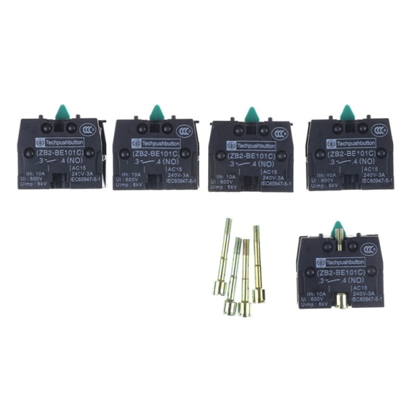5PCS ZB2-BE101C Push Button Switch Contact Block XB2 Series Prod One Size