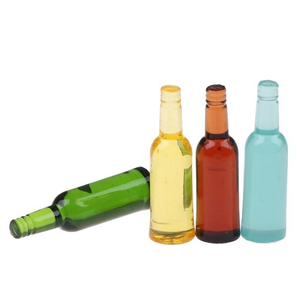 6st 1:12 dockhus miniatyr öl vin dryck flaska docka kök