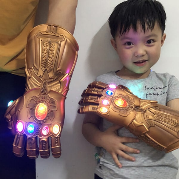 Avengers Thanos Infinity Gauntlet LED Gloves Light Up Cosplay Fo S-Kids