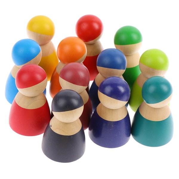 Baby leksaker Barn Rainbow leksaker pedagogiska 3 år staplare Buildi