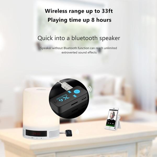 Bluetooth 5.0 ljudmottagare Mini 3,5 mm HIFI AUX stereo bil Spe