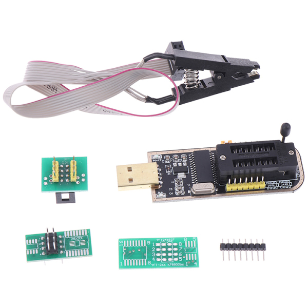 CH341 24 25 Series EEPROM Flash BIOS USB Programmer Module SOIC8 one size
