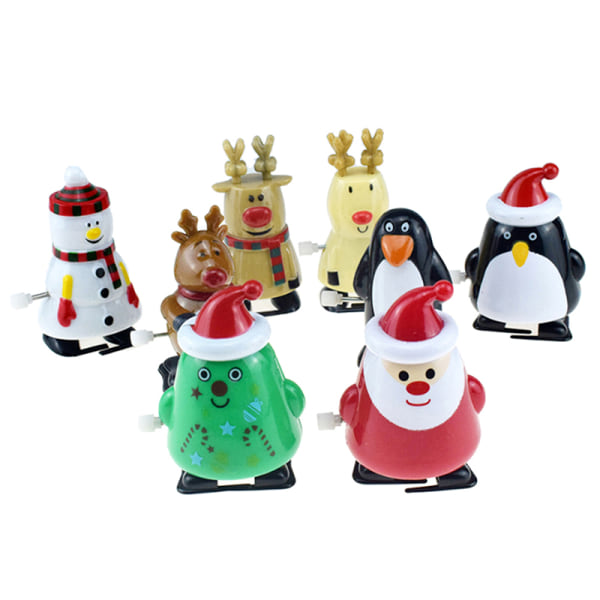 Creative Funny Jumping Clockwork Christmas Toy Children Wind Up  A2
