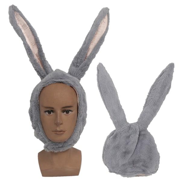 Cute Girl Hat Plush Rabbit Bunny Ears Hat Earflap Cap Head Warme White