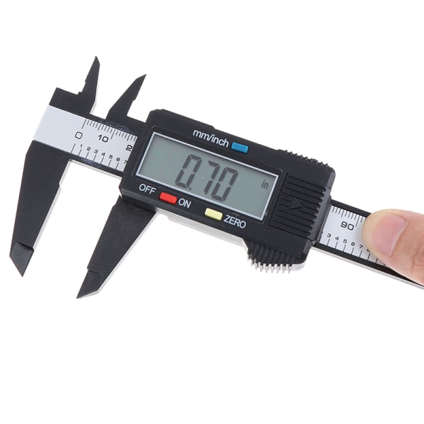 Digital measuring slider 0 -150 mm sliding guide with LCD displ Silver one size