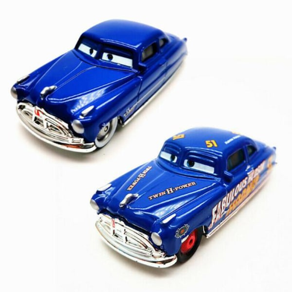 Disney Pixar Cars Lot 2 Doc Huds & Fabulous Doc Hudson Diecast M