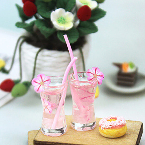 DIY Miniature Dollhouse Bubble Drink Accessories 1:12 For Doll