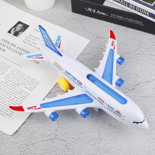 Electric Airplane Toys Model With Moving Flashing Lights And So One Size