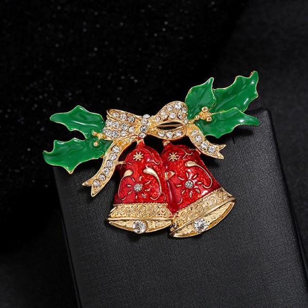 Eleganta bärbara julstift Wreath Ladies Brosches Lot Sha