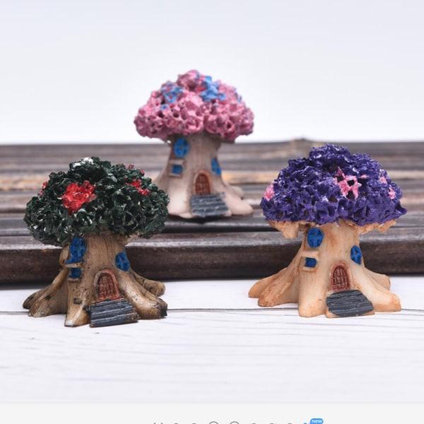 Fairy Doll House Garden Tree House Miniatyrlandskap Craft Ta