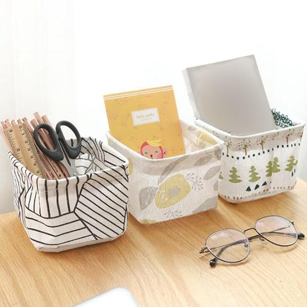 Fällbar skrivbordsförvaringslåda Tygleksaker Kosmetiska smycken Sundr