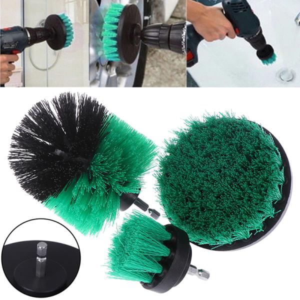 Green drill power scrub floor clean brush for furniture bathroo 3.5inch(1pcs)