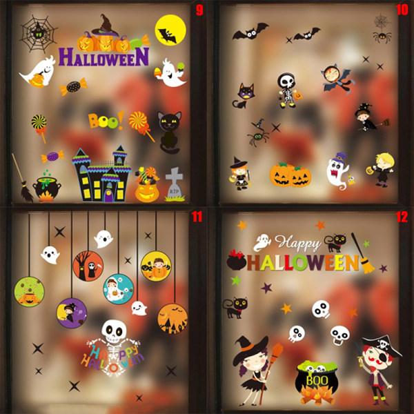 Halloween Pumpkin Lantern Ghost Witch Vattentät väggklistermärke P