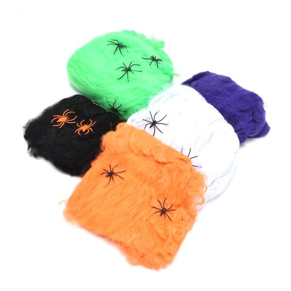 Halloween spindelnät med spindlar sträckbar spindelnät skräck par