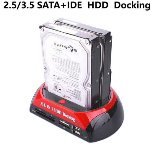 """Hårddiskdocka Dual 2,5 / 3,5 """"SATA IDE HDD-dockningshållare"""