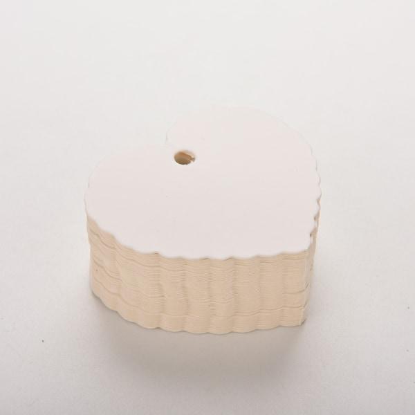 Heart Kraft Paper Blank Bagagelappar Bröllopsfest Presentkort La