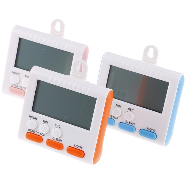 Stort digitalt LCD-kök Kocktimer Nedräkningsklockalarm