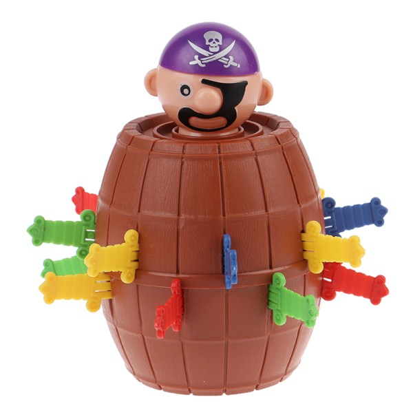 Lucky Stab Pirate Funny Tricky Barrel Moneybox Swords Toys Game  one size