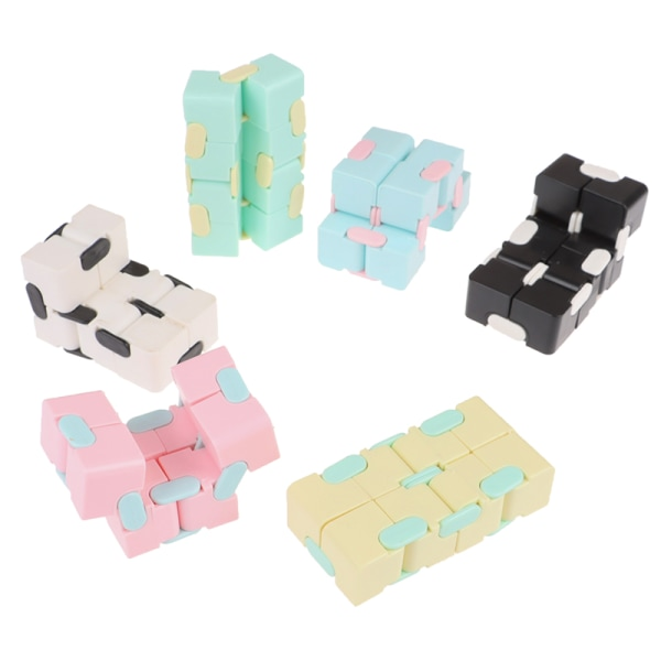 Magic EDC Infinity Cube For Stress Relief Fidget Anti Anxiety St Blue