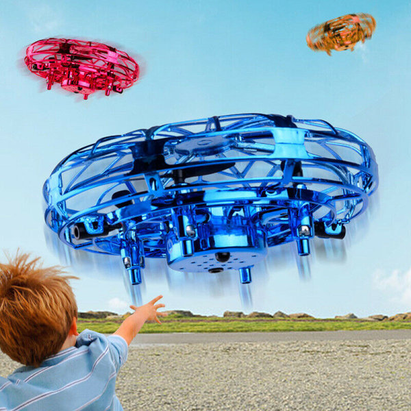 Magic Mini Flying Drone Infrared Sensor UFO Helicopter Child To Blue one size
