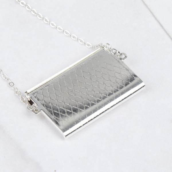 Metallkedjepaket Dockväska Miniatyrhandväska för kläder