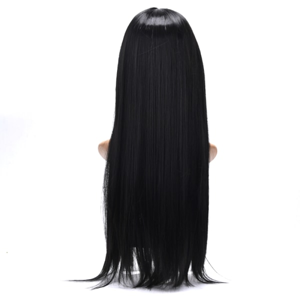 Natural Hair Wig Straight Heat Resistant Synthetic Lace Front Wi