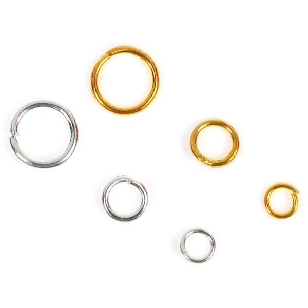 Öppna hoppringar Kontaktdon Pärlor 3/4 / 6mm Guld Silver för Jewelr
