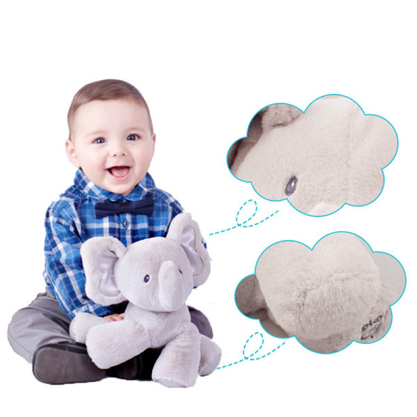 Peek-a-boo Elephant Baby Plush Toy Talking Singing Stuffed Kids  A