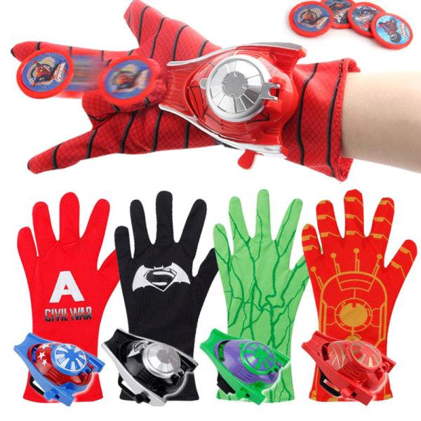 PVC Super Hero Spiderman Ironman Batman Launchers Gloves for Ki Spiderman