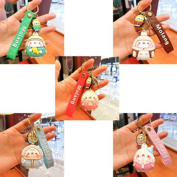 Ready Stock Molang Rabbit Keychain Sling Bag Handväska Hängande Ke
