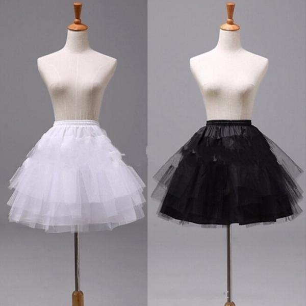 Short Organza Halloween Women Bridal Petticoat Wedding Cosplay U White 35cm