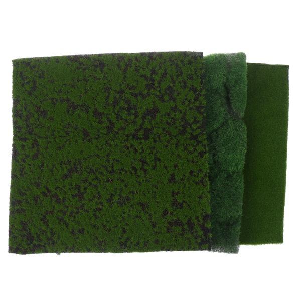 Simulering mossa gräsmatta grön växter DIY konstgjord trädgård la