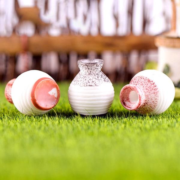 Simuleringsvas Mini Resin Miniature Plant Garden Creative Phot